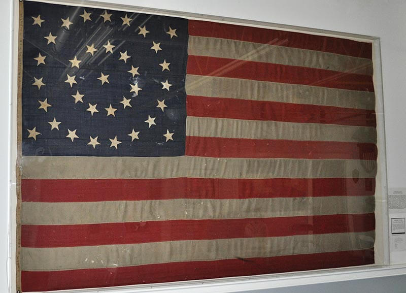 35 Star U.S. Flag used from July 14, 1863 – July 4, 1865. Manufactured by Loane Bros.
