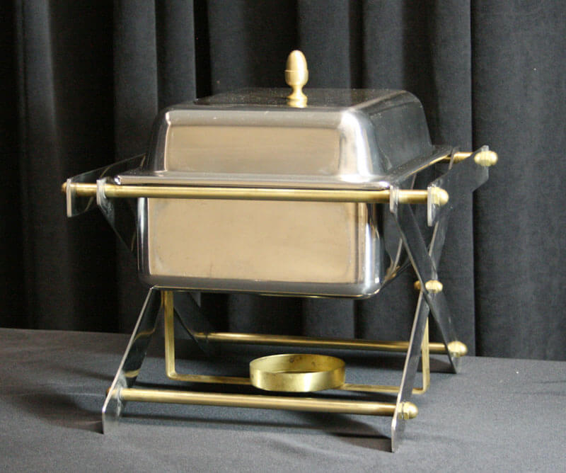 4 Quart Brass-Chrome Chafer (8 Quart Available)