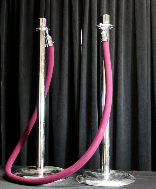 Chrome Stanchion and Velvet Rope
