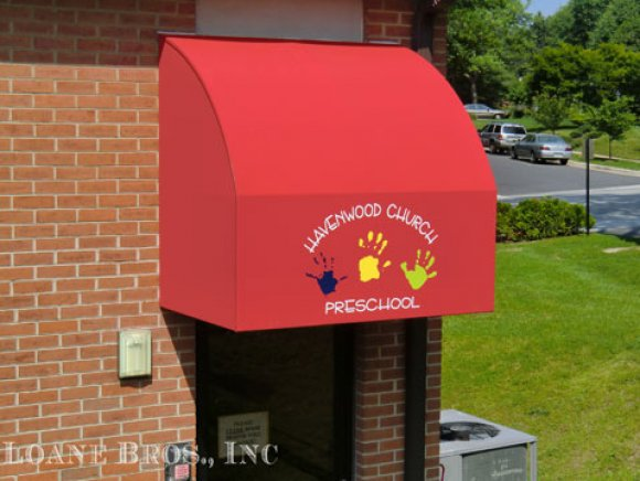 Commerical convex awning