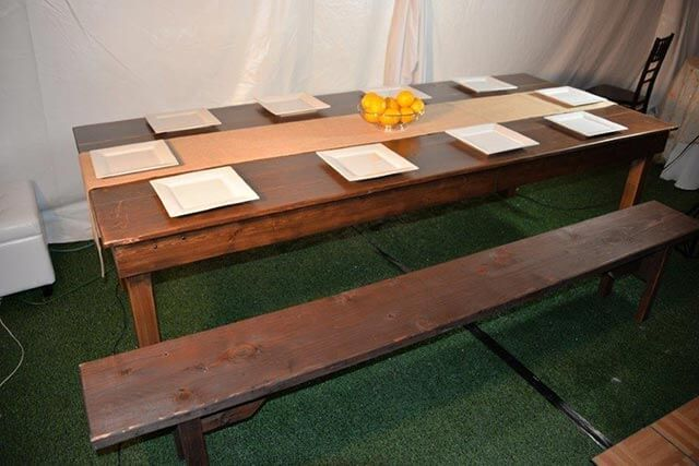 Farm Table and Bench 001