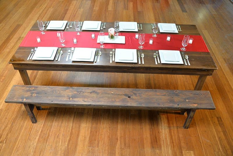 Fruitwood Farm Table 8ft-long