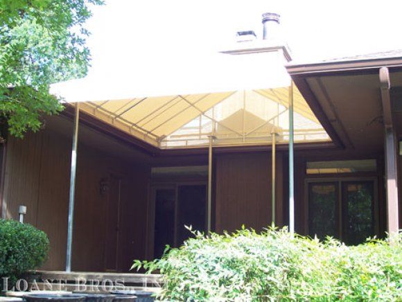 Residential free standing awning.