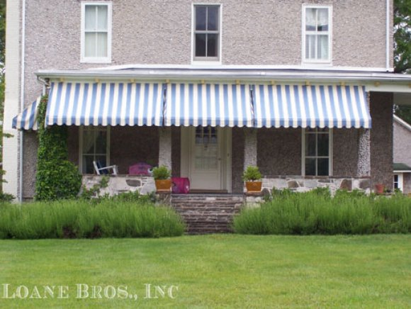 Residential porch awnings