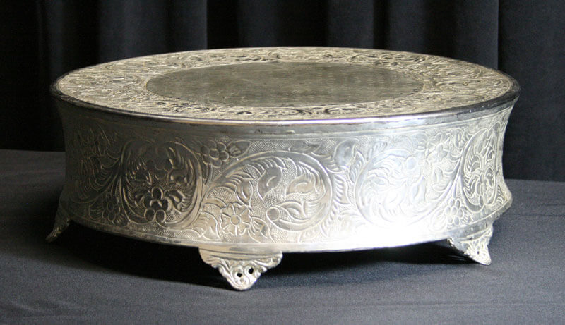 Silver Round Cake Stand