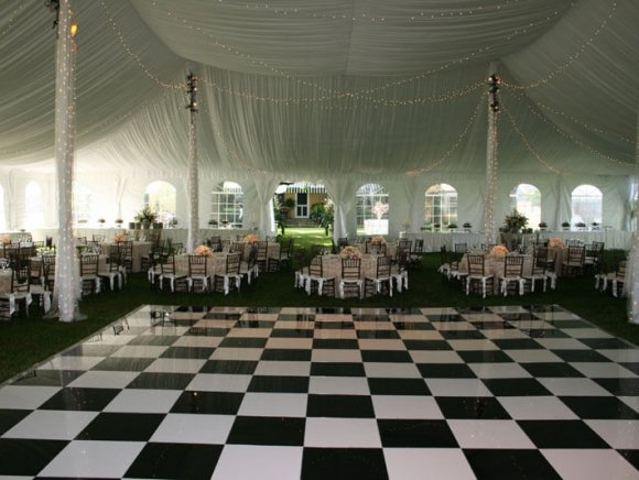 Black & White Checkered Dance Floor