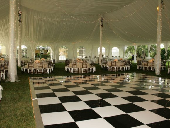 Black & White Lucite Dance Floor