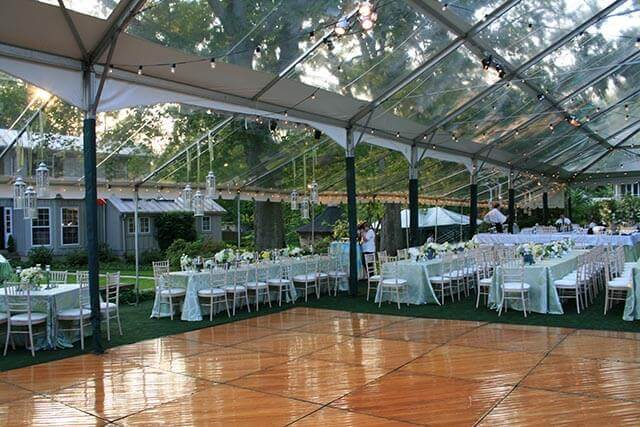 The frame tent is one of the most common types of party tent
