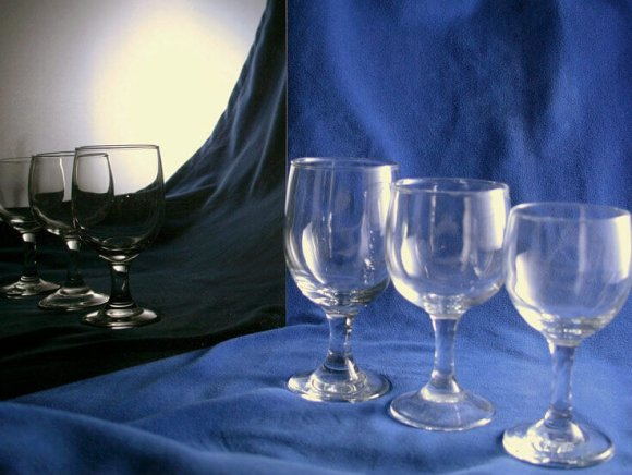 Red Wine, White Wine and Water Goblets - 8.5oz., 6.5oz., 9oz.