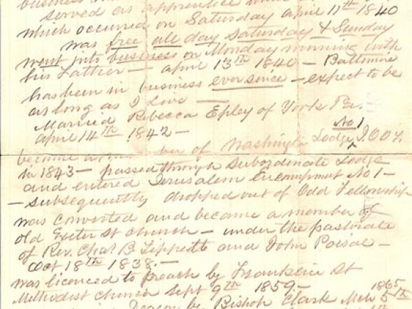 jabez whitford loane biographical account