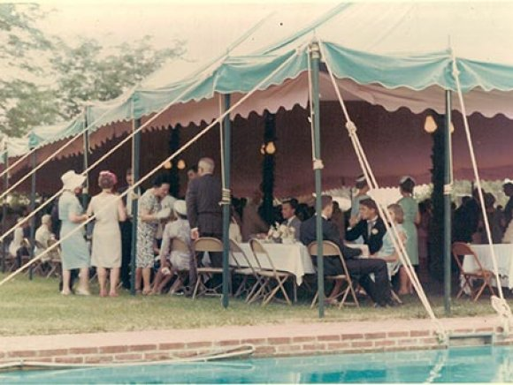 Turquoise and Pink Tent, circa 1965 img
