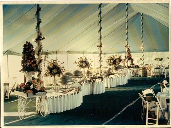 Historical-Archive-green-and-blue-striped-tent-1960s