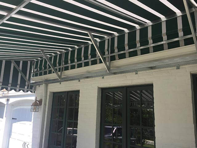 Residential Awning Over Patio Doors